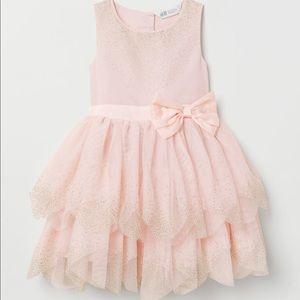 Tulle girls light pink dress